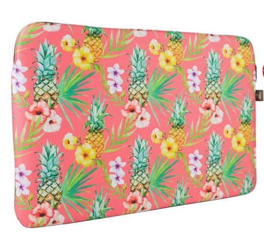 Capa Notebook 14p Slim Com Ziper Abacaxi Tropical Reliza