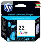 Cartucho De Tinta Hp 22 Color (c9352ab)