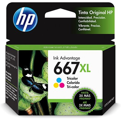 Cartucho De Tinta Hp 667xl Tricolor 3ym80al