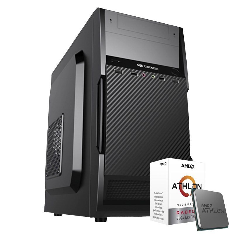 Computador Kit Work/home Amd Am4 Athlon 3000g 4gb Ssd 480gb