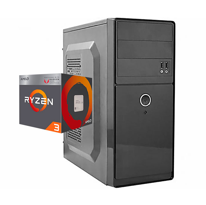 Computador Kit Work/home Amd Am4 Ryzen 3 2200g 8gb Ddr4 Hd 500gb