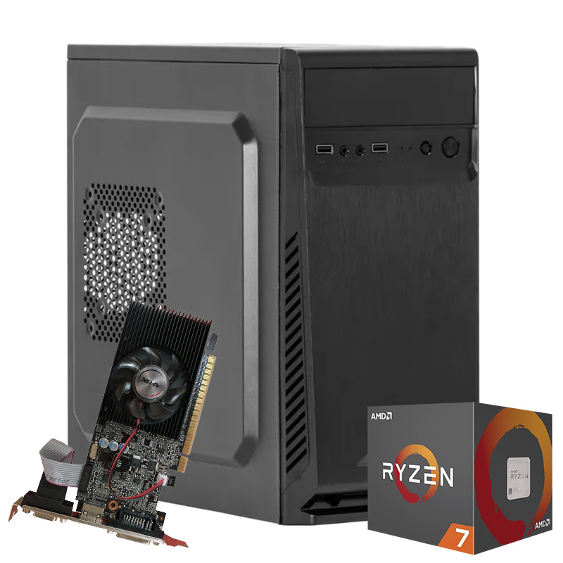 Computador Kit Work/home Amd Am4 Ryzen 7 2700 8gb Ddr4 Ssd 120gb