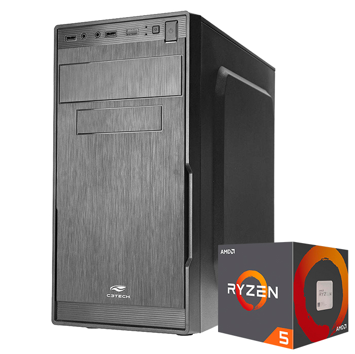 Computador Kit Work/home Amd Am4 Ryzen R5-2600x 8gb Ddr4 Hd 1000gb
