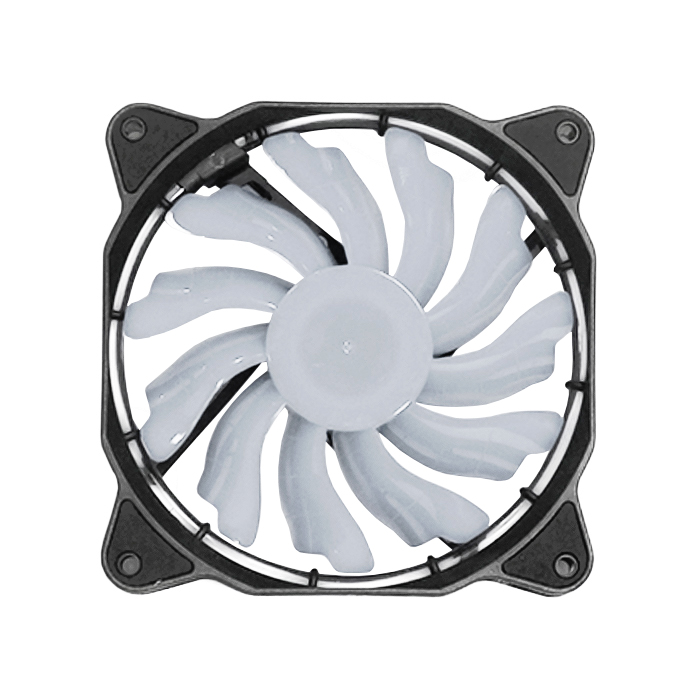 Cooler 120mm Com Led Circular Branco Dx-12f