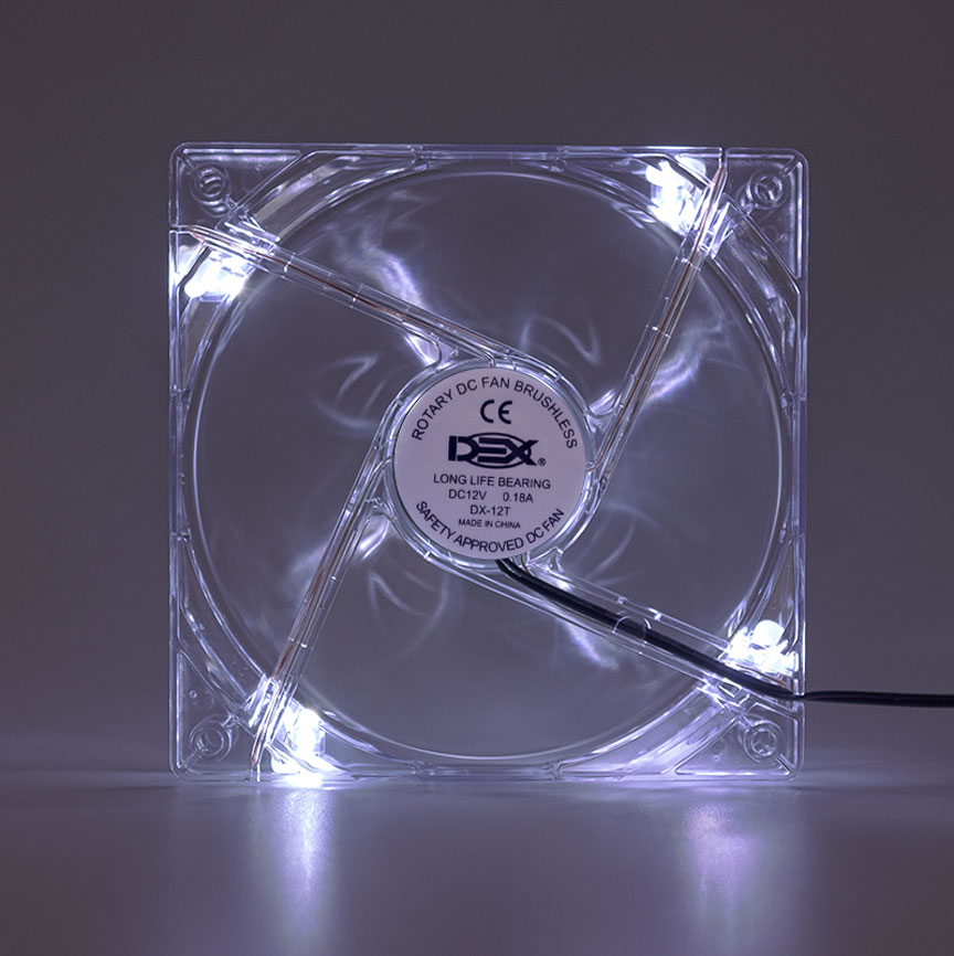 Cooler 120mm Com Led Branco Dx-12t