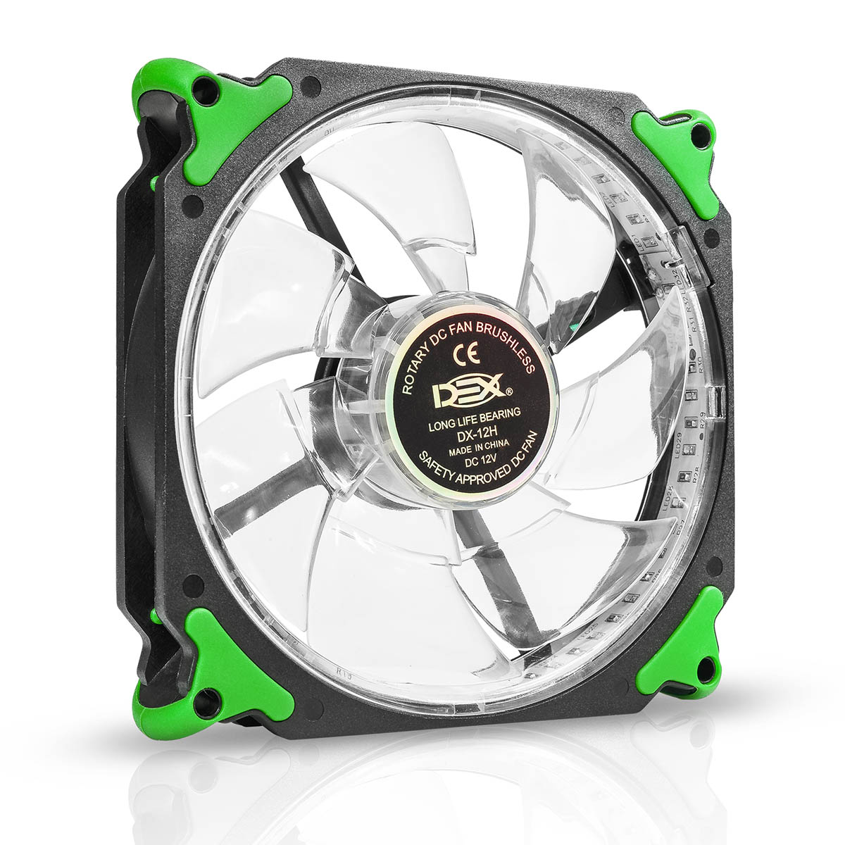 Cooler 120mm Com Led Verde Dx-12h