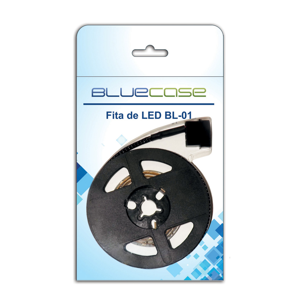 Fita Led Branco Bluecase Blister 12v Bl-01w