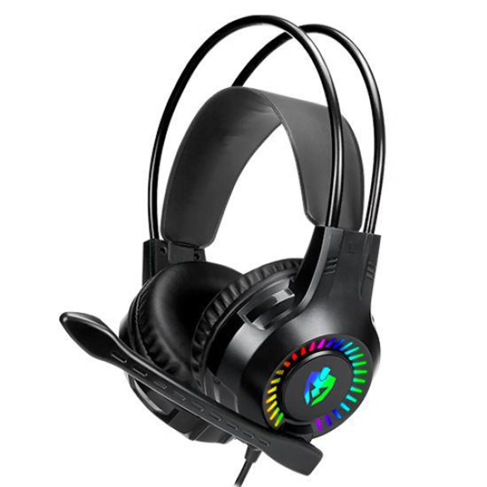 Fone Headset Gamer P2 (2x) + Usb Apolo 7 Cores Eg-304 Evolut
