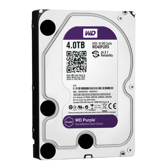 Hd Sata Iii 4000gb 4tb 5400 3.5 Wd Purple Surveillance 64mb
