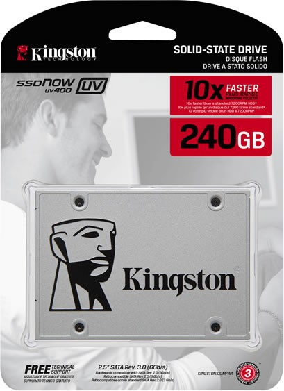Hd Ssd Kingston 240gb Suv400s37/240gb Sataiii 550/490
