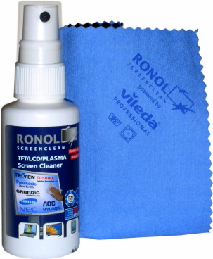Kit De Limpeza Para Tela C/ Flanela Ronol Screen Clean