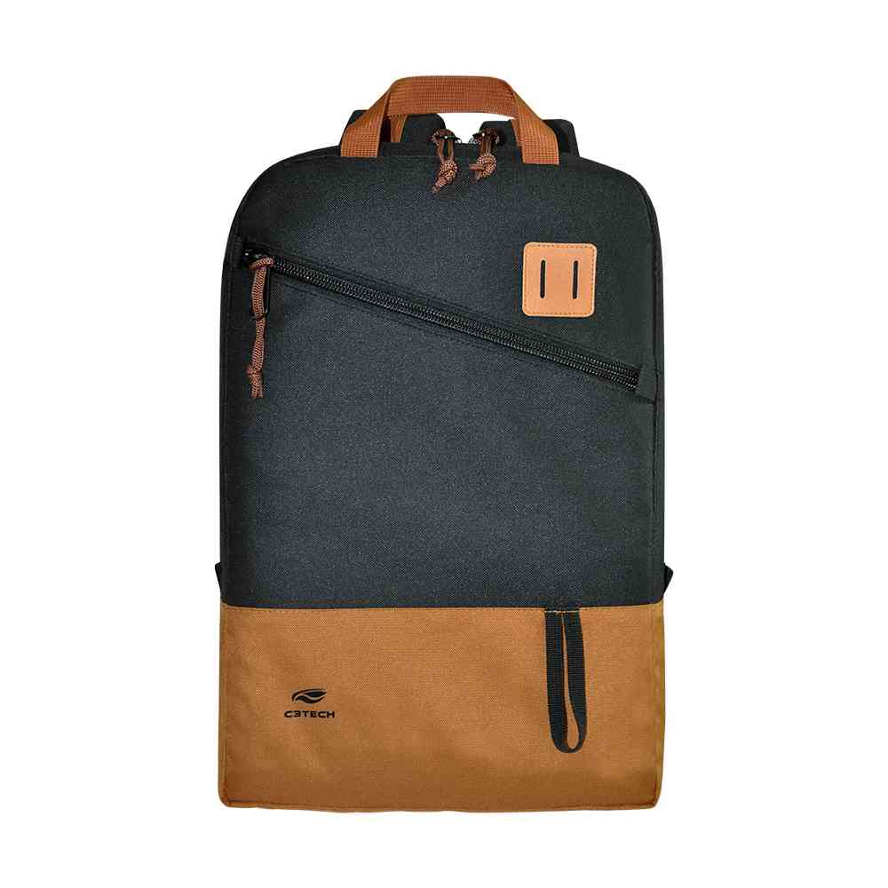 "Mochila Para Notebook 15,6"" Sahara Preto Mc-03bk C3tech"