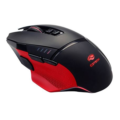 Mouse Usb Gamer 12000dpi Pt/vm Led Rgb Osprey 8 Botoes  Mg-800b C3tech