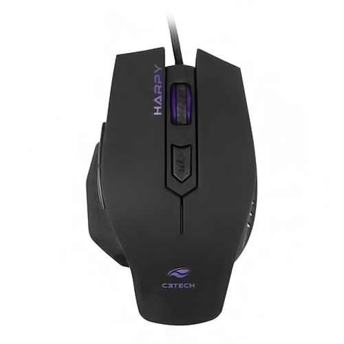 Mouse Usb Gamer 3200dpi Preto 6 Botoes Mg-100bk Tech Harpy C3 Tech