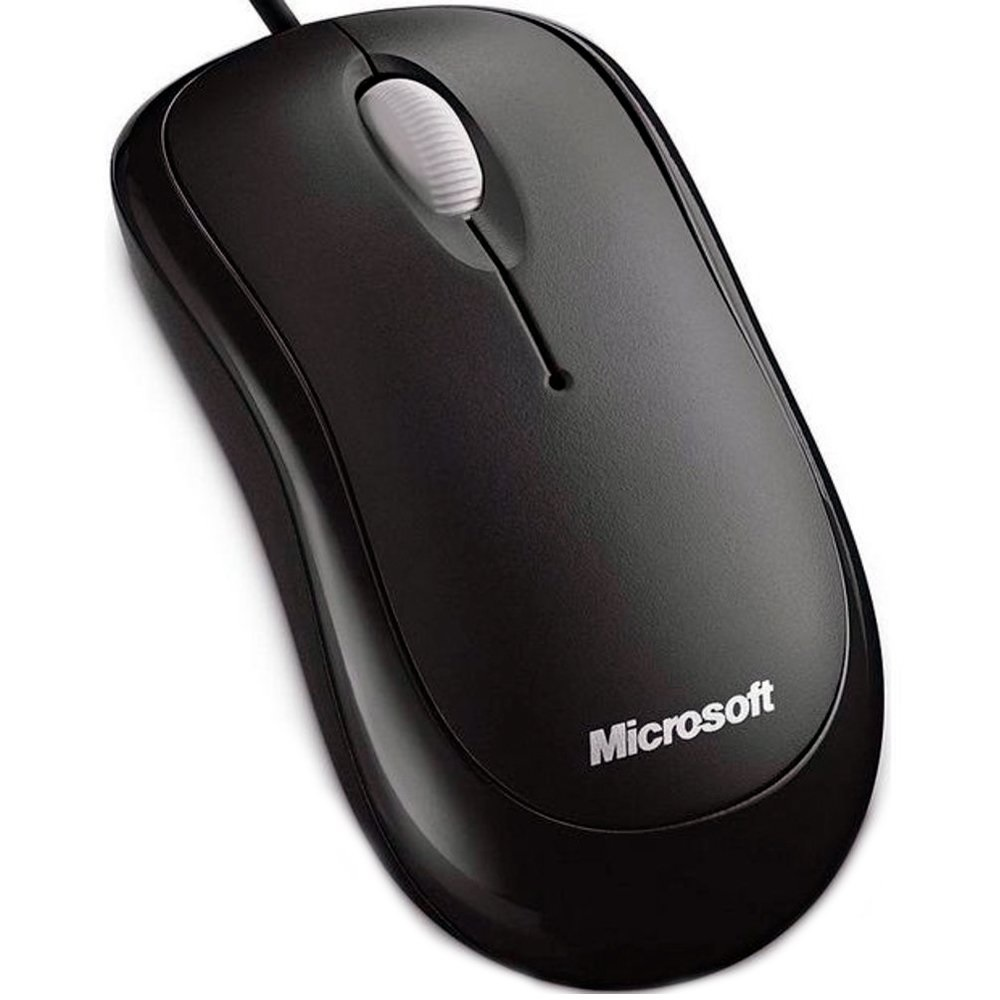 Mouse Usb Optical Microsoft Basic  Preto