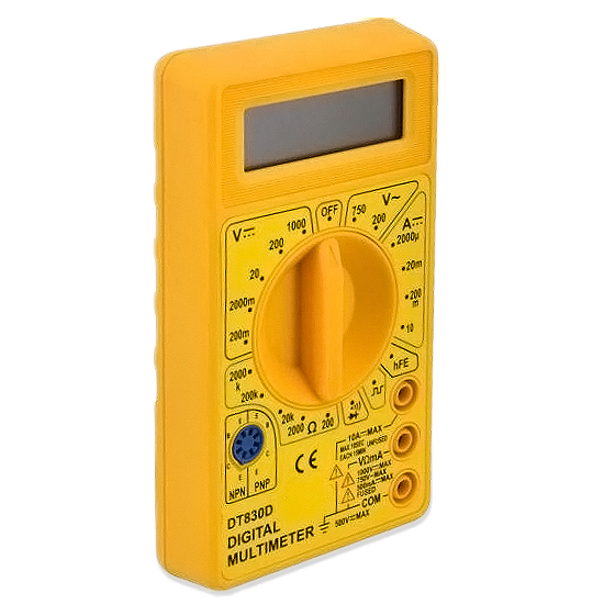 Multimetro Digital Dt-830b Amarelo Dex