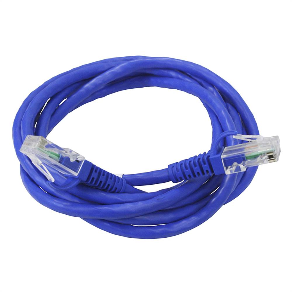 Cabo De Rede Patch Cord Cat5 E De 3mt Azul Imp