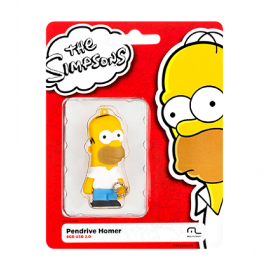 Pendrive Usb 2.0 8gb Simpsons Homer Pd070 Multilaser