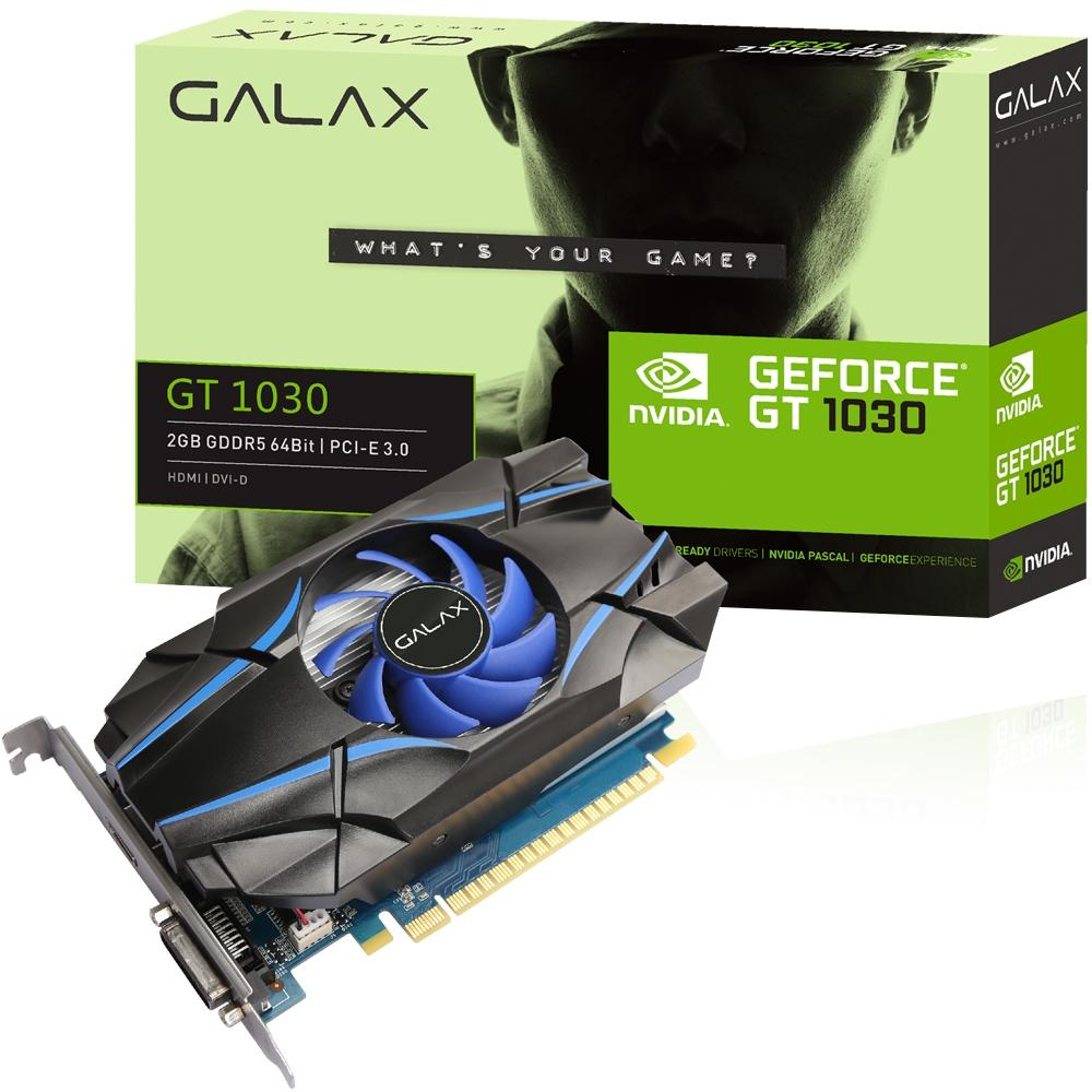 Placa De Video Gt 1030 2gb Ddr5 64bits 30nph4hvq4st Galax