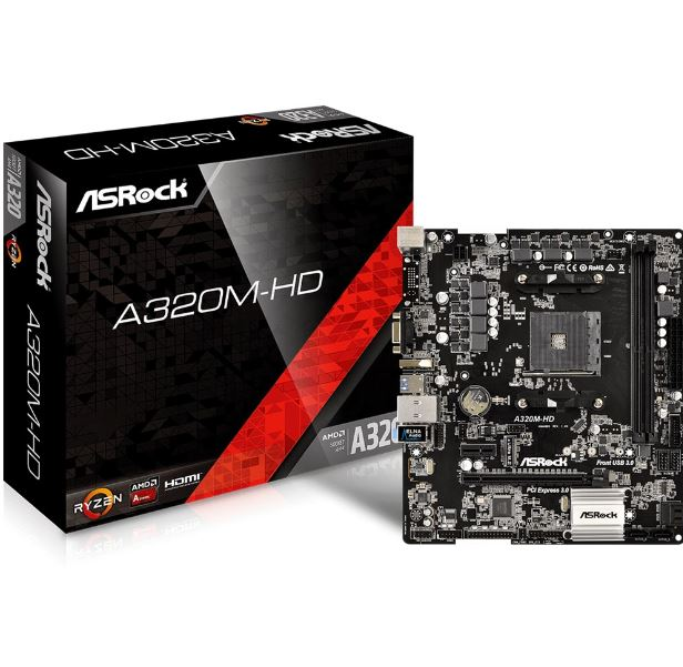 Placa Mae Amd Am4 A320 A320m-hd Ddr4 Asrock