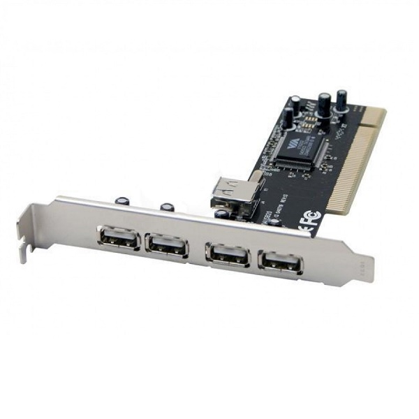 Placa Pci Com 4portas Via 4+1 Usb 2.0 Jpu-01 Feasso