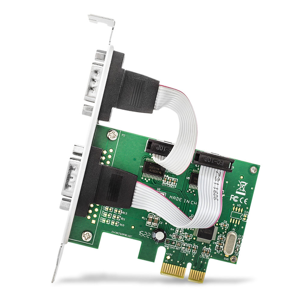 Placa Pci-e C/2 Portas Serial Rs-232 Db-9 Jpss-02 Low Profile