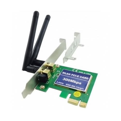 Placa Pci-e Wireless 300mbps C/ Espelho Low Profile Fpr-300m Feasso