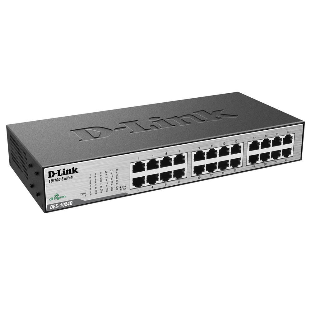 Switch 24 Portas 10/100 Des-1024d D-link